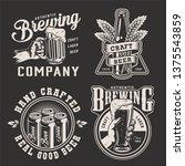 vintage brewing monochrome... | Shutterstock .eps vector #1375543859