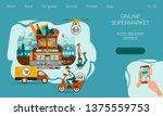 landing page design. concept of ... | Shutterstock .eps vector #1375559753
