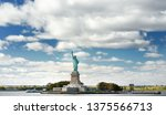 panorama of island of liberty... | Shutterstock . vector #1375566713