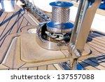 sailboat bow  winch detail ... | Shutterstock . vector #137557088