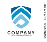 shield letter s logo  security... | Shutterstock .eps vector #1375575509