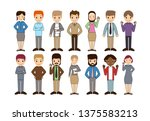 group of working people... | Shutterstock .eps vector #1375583213