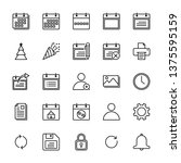 calendar icon for all types of...