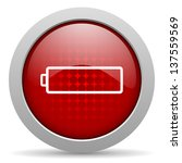 battery red circle web glossy... | Shutterstock . vector #137559569