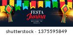 festa junina celebration banner ... | Shutterstock .eps vector #1375595849