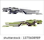 vinyls sticker set decals for... | Shutterstock .eps vector #1375608989