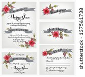 wedding invitation  thank you... | Shutterstock .eps vector #137561738