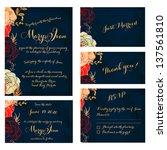 wedding invitation  thank you... | Shutterstock .eps vector #137561810