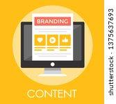 content branding vector...