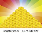 pile of treasure images  lots... | Shutterstock .eps vector #1375639529