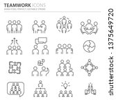 simple set of business icons ... | Shutterstock .eps vector #1375649720