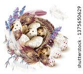 easter vector illustration with ... | Shutterstock .eps vector #1375650629