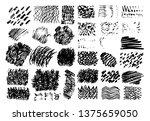 brush strokes. vector... | Shutterstock .eps vector #1375659050