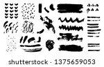 brush strokes. vector... | Shutterstock .eps vector #1375659053