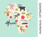 africa continent map. vector...   Shutterstock .eps vector #1375665650
