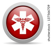 caduceus red circle web glossy... | Shutterstock . vector #137566709