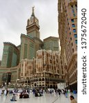 Small photo of Mecca, Saudi Arabia,-Circa Dec 2015- Mecca new modern skyline , with centrepiece clock tower and high end hotels to accommodate affluent pilgrims.