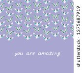 you are amazing. white... | Shutterstock .eps vector #1375687919