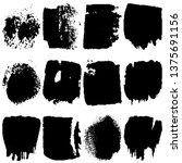 set of vector paint spots from... | Shutterstock .eps vector #1375691156
