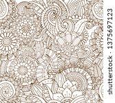 seamless zentangle pattern in... | Shutterstock .eps vector #1375697123