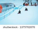gala yuzawa snow resort  yuzawa ... | Shutterstock . vector #1375702070
