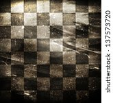 Grungy Dotted Chessboard...