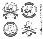 Set Of Hunting Retriever Logos  ...