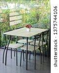 empty chair and tables indoor... | Shutterstock . vector #1375744106