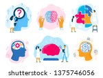 mental health therapy.... | Shutterstock .eps vector #1375746056