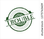 green trouble distressed rubber ...   Shutterstock .eps vector #1375763609