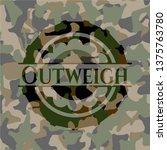 outweigh written on a...   Shutterstock .eps vector #1375763780