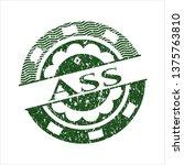 green ass distressed rubber...   Shutterstock .eps vector #1375763810
