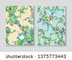 flowing paint marble vector...   Shutterstock .eps vector #1375773443