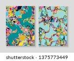 fluid paint marble vector...   Shutterstock .eps vector #1375773449