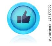 blue vector like button | Shutterstock .eps vector #137577770