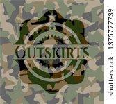 outskirts written on a camo...   Shutterstock .eps vector #1375777739