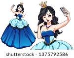 Pretty Cartoon Princess Taking...
