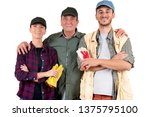 father and sons manual workers | Shutterstock . vector #1375795100