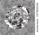 woolly on grey camo texture   Shutterstock .eps vector #1375820240
