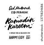 ramadan kareem and eid mubarak...   Shutterstock .eps vector #1375824686