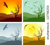 set of four vector... | Shutterstock .eps vector #13758253
