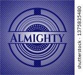 almighty with denim texture   Shutterstock .eps vector #1375835480
