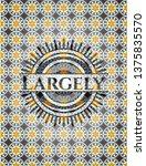 largely arabesque emblem....   Shutterstock .eps vector #1375835570