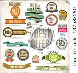set of vector badges  labels... | Shutterstock .eps vector #137583590