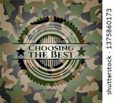 choosing the best on camo...   Shutterstock .eps vector #1375860173