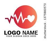 heartbeat logo  medical logo ... | Shutterstock .eps vector #1375883573