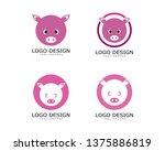 pig logo   vector | Shutterstock .eps vector #1375886819