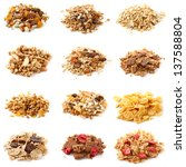 dry food on a white background | Shutterstock . vector #137588804