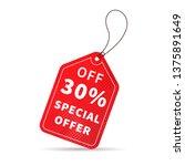 bright red sale price label... | Shutterstock . vector #1375891649