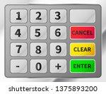 bright realistic atm keypad.... | Shutterstock . vector #1375893200